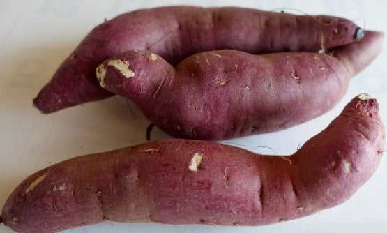 Raw Sweet Potato.